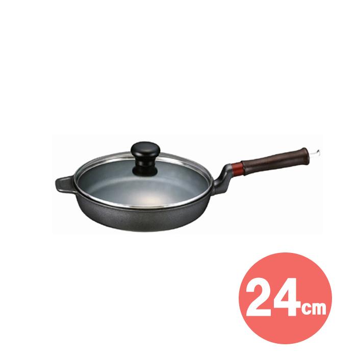 味わい鍋 フライパン(24cm)IHタイプ 【 文化軽金属鋳造 】 ( キッチンブランチ )