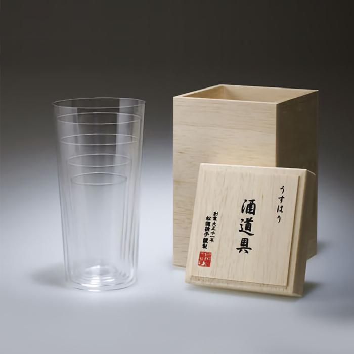 松徳硝子 うすはり 酒道具 タンブラー 5種セット 木箱入り ビール 一部予約 冷酒 贈り物 食前酒 ギフト ビアカップ ウイスキー プレゼント ハイボール 営業 ビアグラス
