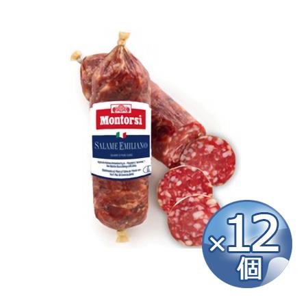 モントルシ ミニサラミ・エミリアーノ 220g×12個 【冷蔵便でお届け】 《food》 【 イタリア Montorsi Mini Salame Emiliano 】 【 ※ご注文後のキャンセル・返品・交換不可。 】