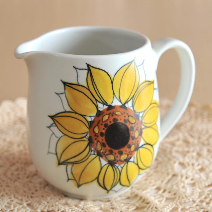 【アンティーク Arabia アラビア】Arabia/アラビアHLA Sunflower ヒマワリ ピッチャー 《ビンテージ/vintage/ヴィンテージ》( キッチンブランチ )