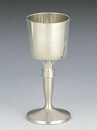 【送料無料】大阪錫器 ワインカップ 白 【桐箱入り】<95mL>( キッチンブランチ )