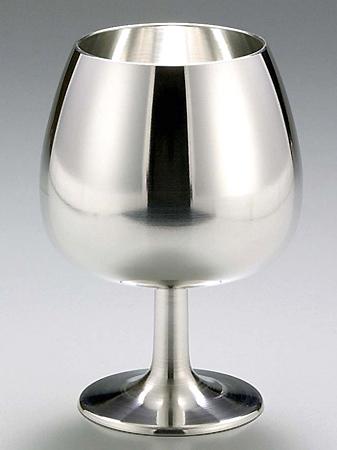 【送料無料】大阪錫器 ブランデーグラス 【桐箱入り】<215mL>( キッチンブランチ )