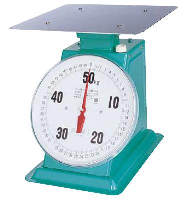 (平皿付) フジ (調理 製菓道具 蔵元屋) (業務用) (計量器) (キッチンスケール) デカO型 上皿自動ハカリ 50kg