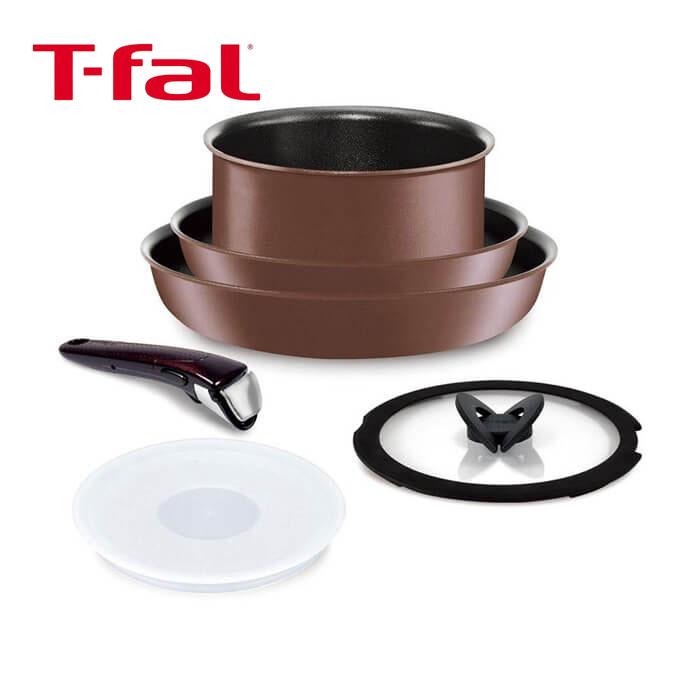 T-fal トパーズ・エクセレンス セット 6 インジニオ・ネオ IH L66892 フライパン ソースパン ガラス蓋 ティファール