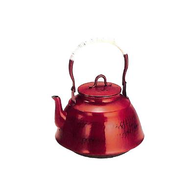純銅鎚目文 (70-U)( 工房アイザワ キッチンブランチ 2.5L ) 朱塗り 湯沸まつかさ 桐箱