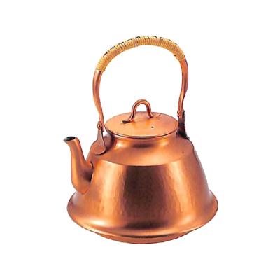 工房アイザワ 純銅茶器 純銅鎚目文 湯沸まつかさ 2.5L (70)( キッチンブランチ )