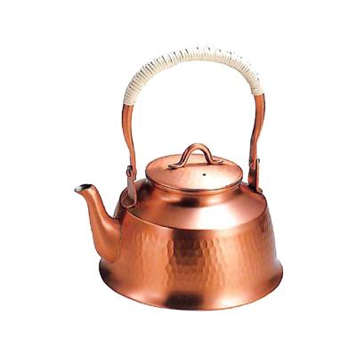 工房アイザワ 純銅茶器 純銅鎚目文 湯沸まつかさ 1.6L (71)( キッチンブランチ )