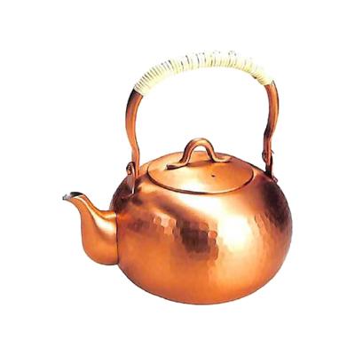 工房アイザワ 純銅茶器 純銅鎚目文 湯沸 ゆず 1.8L (74)( キッチンブランチ )