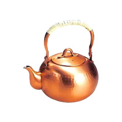 工房アイザワ 純銅茶器 純銅鎚目文 湯沸 ゆず 1.0L (75)( キッチンブランチ )