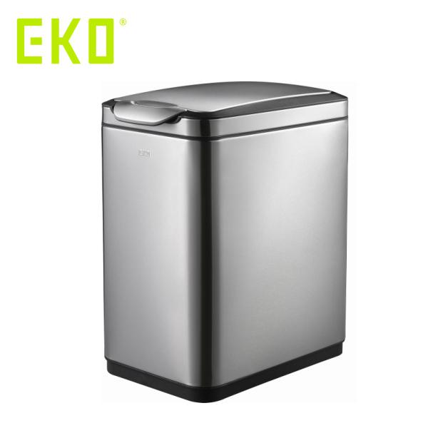 EKO ティナ タッチビン 20L ( EK9177MT-20L ) 【 エコ ごみ箱 ゴミ箱 ダストボックス シルバー 】( キッチンブランチ )