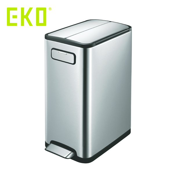 EKO エコフライ ステップビン 30L ( EK9377MT-30L ) 【 エコ ごみ箱 ゴミ箱 ダストボックス シルバー 】( キッチンブランチ )