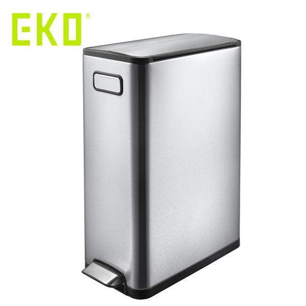 EKO エコフライ ステップビン 45L ( EK9377MT-45L ) 【 エコ ごみ箱 ゴミ箱 ダストボックス シルバー 】( キッチンブランチ )