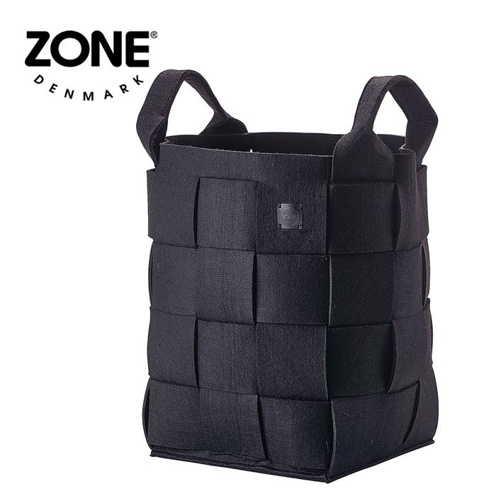 ZONE ランドリーバスケット 352067 ブラック 【 デンマーク ゾーン 北欧デザイン 】( キッチンブランチ )