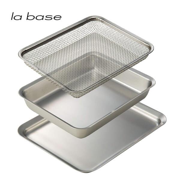 ラバーゼ la base 角バッド 21cm&角ざる 21cm&角プレート 3点セット キッチン 下ごしらえ 福袋