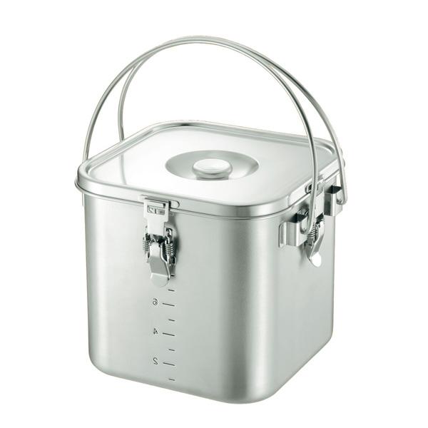 KO 19-0 角型 給食缶 20cm<20cm>( キッチンブランチ )