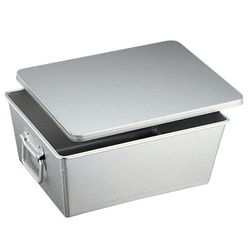 アルマイト 溶接給食用パン箱 (蓋付) 260-B 20個入(260-B )<20個入>( キッチンブランチ )