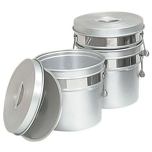 アルマイト段付二重食缶 245R (6L)(245R )<(6L)>( キッチンブランチ )