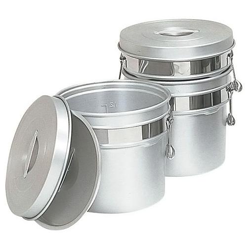 アルマイト段付二重食缶 246R (8L)(246R )<(8L)>( キッチンブランチ )