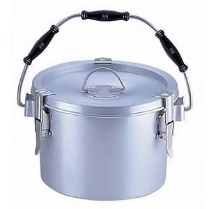 シルバーアルマイト 丸型二重 クリップ付食缶 (中蓋付) 238 (8L)(238)<(8L)>( キッチンブランチ )