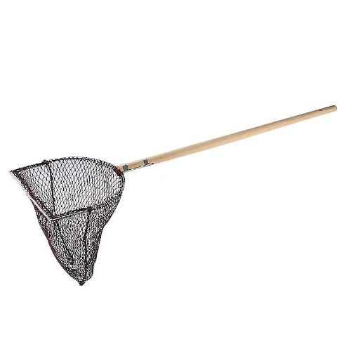 木柄 玉網 長三角型 (活魚用) 40cm( キッチンブランチ )