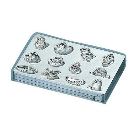 マトファ メタル チョコレートモルド 貝殻シート 12ヶ取 76612(76612)<12ヶ取>( キッチンブランチ )