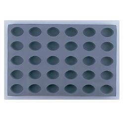 デバイヤー エラストモール(シリコンフォーム) オーバル型 30ヶ取 1830-60(1830-60)<30ヶ取>( キッチンブランチ )