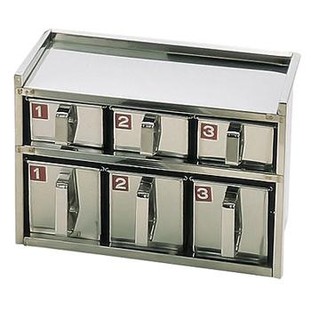 SA 18-8 溶接 引出式ヤクミ入 2段6ヶ入<2段6ヶ入>( キッチンブランチ )