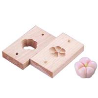 手彫物相型 (上生菓子用)横福梅 <横福梅>( キッチンブランチ )