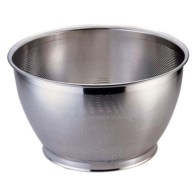 UK 18-8 パンチング米揚ざる (穴径φ1.5mm) 37.5cm<37.5cm>( キッチンブランチ )