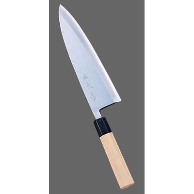SA 佐文 青鋼 出刃 (片刃) 24cm<24cm>( キッチンブランチ )
