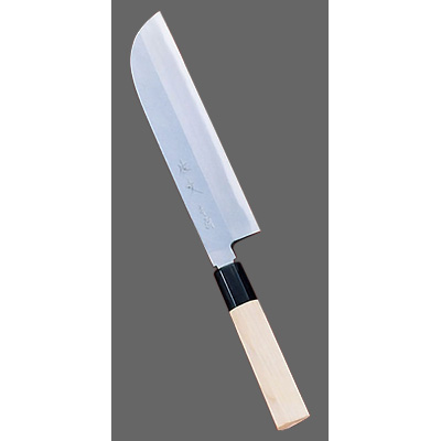SA 佐文 青鋼 鎌型薄刃 (片刃) 21cm<21cm>( キッチンブランチ )