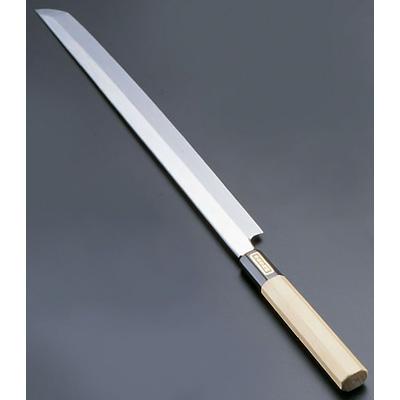 SA 佐文 本焼 鏡面仕上 蛸引 (木製サヤ付)(片刃) 30cm<30cm>( キッチンブランチ )