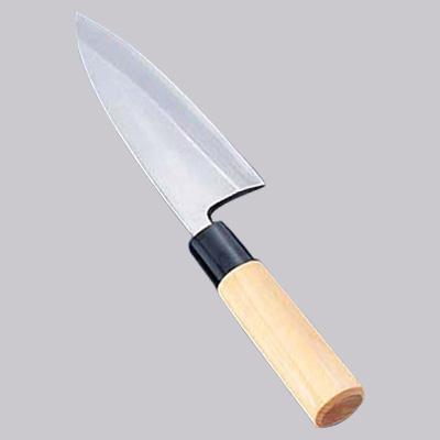新入荷 流行 ステンレス鋼 4年保証 防菌柄 和包丁 出刃 キッチンブランチ 18cm 片刃
