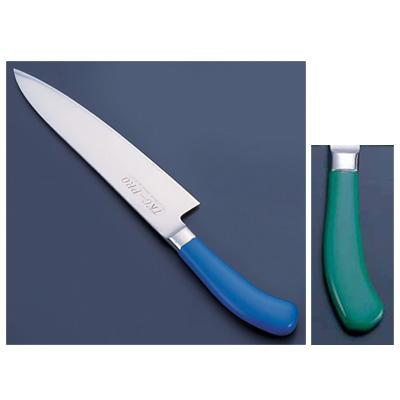 TKG PRO(プロ) 業務用 抗菌カラー庖丁 牛刀(両刃) 24cm グリーン<グリーン>( キッチンブランチ )