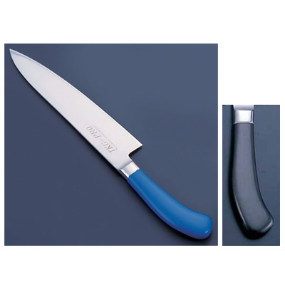 TKG PRO(プロ) 業務用 抗菌カラー庖丁 牛刀(両刃) 27cm ブラック<ブラック>( キッチンブランチ )