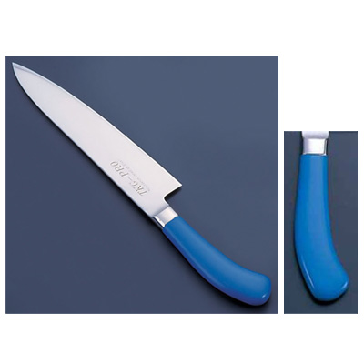 TKG PRO(プロ) 業務用 抗菌カラー庖丁 牛刀(両刃) 30cm ブルー<ブルー>( キッチンブランチ )