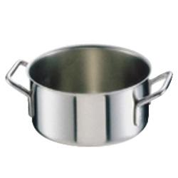シットラム イノックス 18-10 半寸胴鍋 三重底 (蓋無) 20B 20cm(20B)<20cm>( キッチンブランチ )
