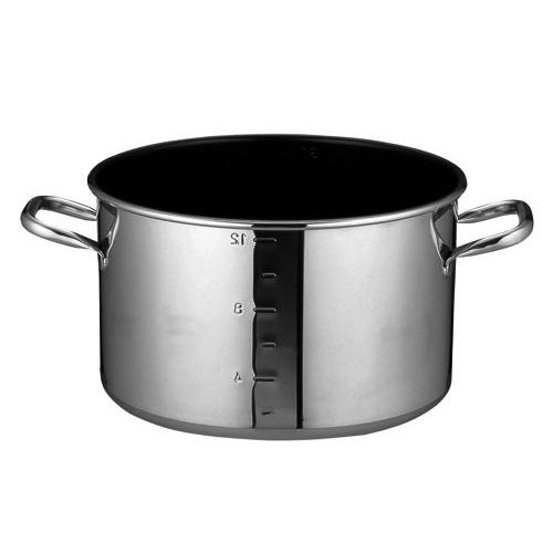 SA パワー デンジ 25%OFF アルファ 半寸胴鍋 目盛付 蓋無 キッチンブランチ 27cm セットアップ