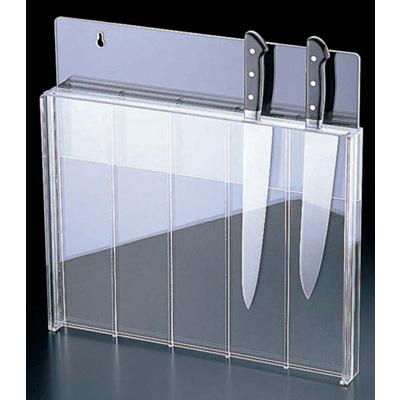 マアクリル 庖丁スタンド(釘打式) 450×45×H450mm <透明色><450×45×H450mm>( キッチンブランチ )