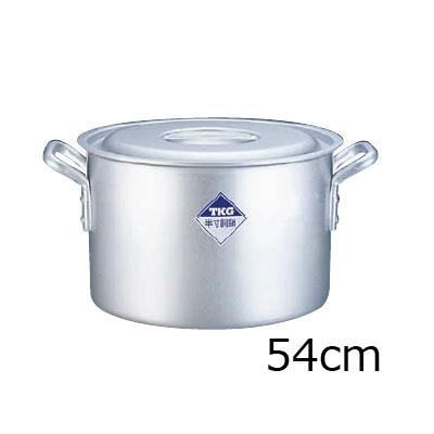 TKG 半寸胴鍋 アルミニウム (アルマイト加工) (目盛付) 54cm( キッチンブランチ )