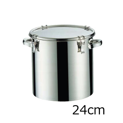 18-8 密閉式容器 CTH両手付タイプ (シリコンゴム)(CTH-24)( キッチンブランチ )