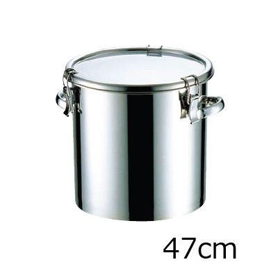18-8 テーパー付密閉式容器 両手付 (シリコンゴム)(TP-CTH-47H)( キッチンブランチ )