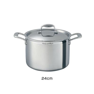 ビタクラフト VitaCraft プロ 半寸胴鍋 (蓋付) 24cm ( No.0223 )( キッチンブランチ )