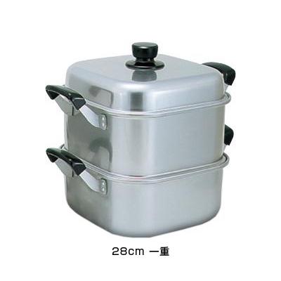 アルマイト角型蒸器 28cm 一重 <28cm 一重>( キッチンブランチ )