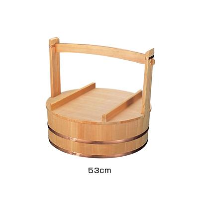 木製出前岡持(椹製) 53cm <53cm>( キッチンブランチ )
