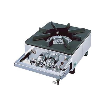 ガステーブルコンロ用 兼用レンジ S-1220 (1連、2重、受皿付き) 12・13A 320×450×H158mm( キッチンブランチ )
