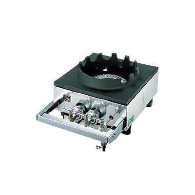 中華レンジ S-1225 (1連、2重、受皿付き) LPガス 320×450×H158mm( キッチンブランチ )