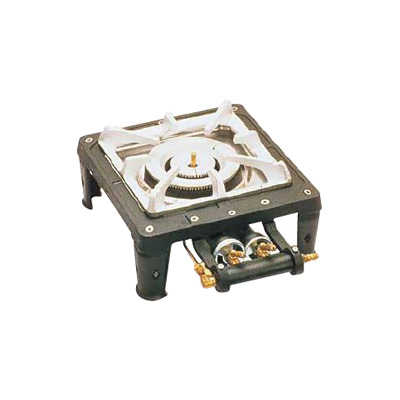 テーブルコンロ MD-701 (1連・マッチ点火) LPガス 280×300×H150mm( キッチンブランチ )