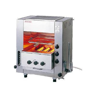 ガス 赤外線 同時両面焼グリラー 「ニュー武蔵」 (小型) SGR-N45 LPガス( キッチンブランチ )