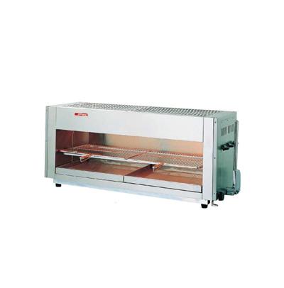 アサヒ上火式グリラー SG-1200H (ハンドル式) LPガス 1245×430×H515mm( キッチンブランチ )
